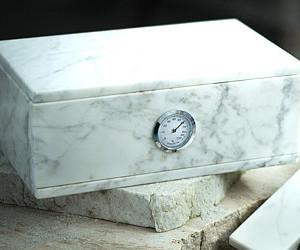 Scatola in Marmo Bianco per Sigari